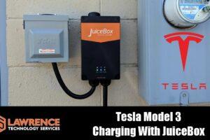 Tesla Model 3 Charging With J1772 JuiceBox 40 & NEMA 14-50