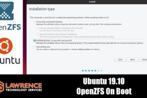 Ubuntu 19.10 Beta: Test Experimental ZFS On Boot
