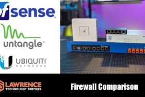 Firewall Comparison: Ubiquiti EdgeRouter / Ubiquiti UniFi USG /  Untangle / pfsense
