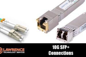 SFP+ 10  Gigabit Connectors: LC Multi-Mode Fiber, 10GBASE-T, and DAC Cables.