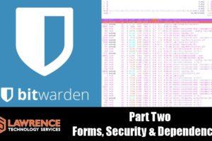 Bitwarden Open Source Password Manager Review Part 2: Forms, Security & Docker Dependencies