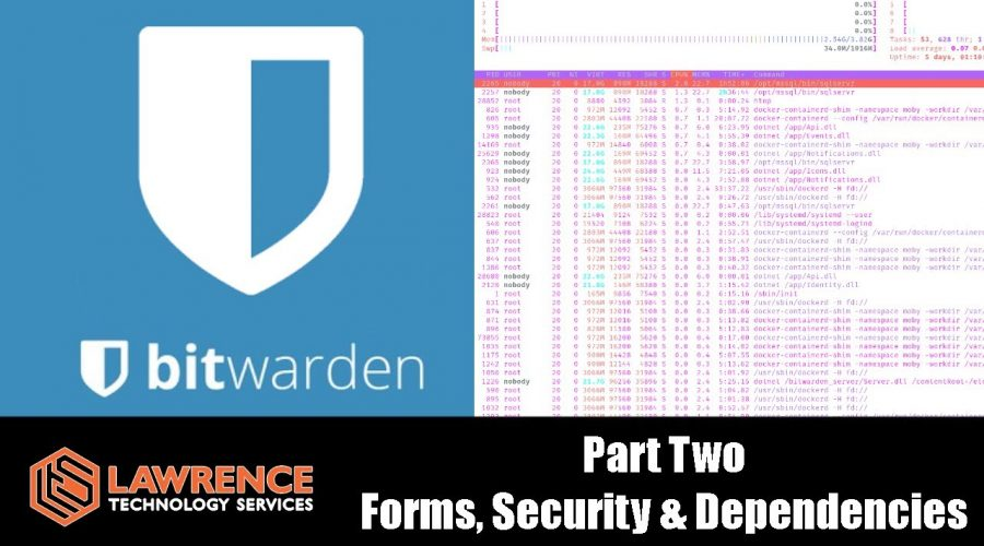 Bitwarden Open Source Password Manager Review Part 2: Forms, Security & Docker Dependencies