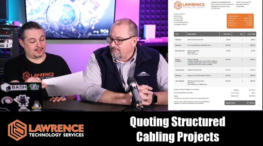 Examples of Our Pricing Process and How We Do Bidding For Structured Cabling Projects
