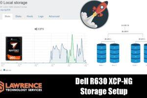 Dell R630 XCP-NG Storage Setup & Performance with Seagate Nytro SAS Drives